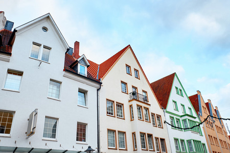 Old traditional buildings in Germany. Houses of timber and plaster construction Фото со стока