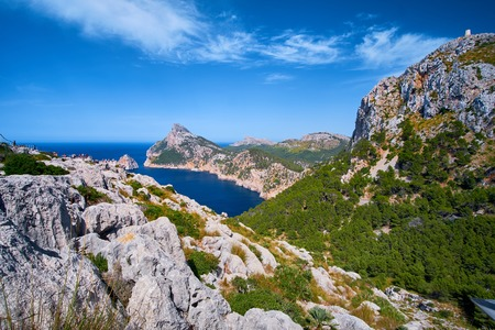Beautiful romantic views of the sea and mountains. Cap de formentor - coast of Mallorca, Spain - Europe.