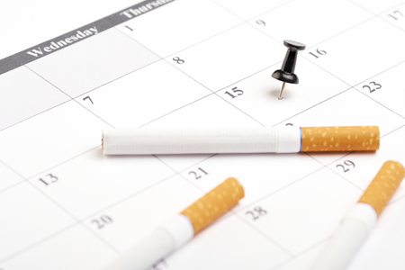 Dad habits smoking. Quit smoking today. World no tobacco day
