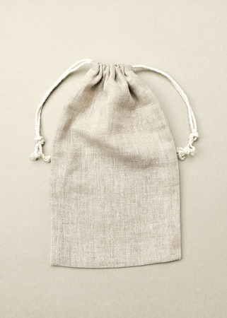 Linen Blank Case Bags Eco Package. Empty Craft Flax Pack Natural Ecological Friendly Textile. Set of Handmade Recycleable Empty File 스톡 콘텐츠