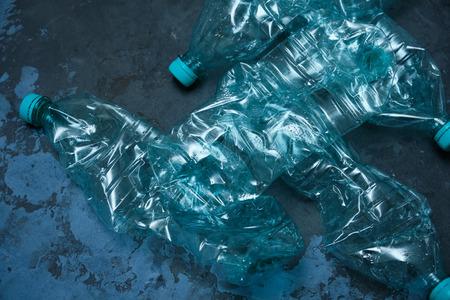Plastic bottles, recycle waste management concept.