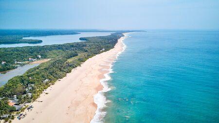 Aerial view of the south coast of the island of Sri Lanka. Stok Fotoğraf