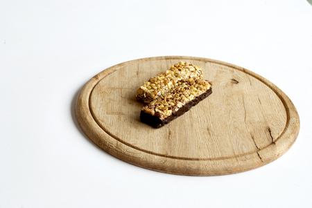 roughage: Muesli snacks in the white bakground Stock Photo