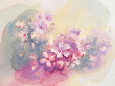 Sakura bloeien aquarel achtergrond. Voorjaar bloeien. pastel kleuren