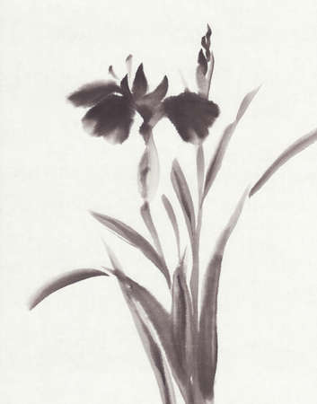 iris ink painting