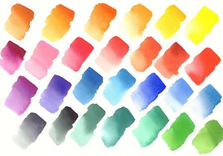 Color palette of watercolor paints