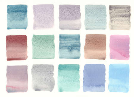 granulated color palette watercolor background