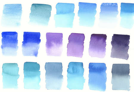 blue colours blocks palette abstract watercolour background