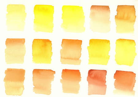yellow colors blocks palette abstract watercolour background