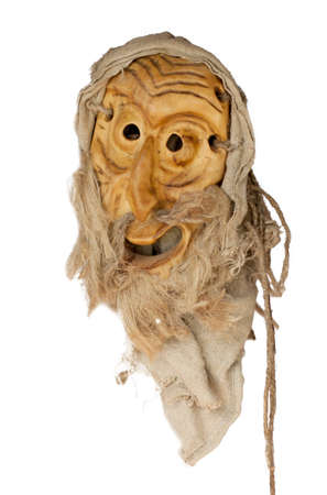 LIthuanian folk art - traditional wooden masks of devils, horses, warriors, shamans, witches, spirits and animals like wollf and goat. Used as a souvenir or in carnival festivals. Handmade mainly of wood and natural materials. Reklamní fotografie