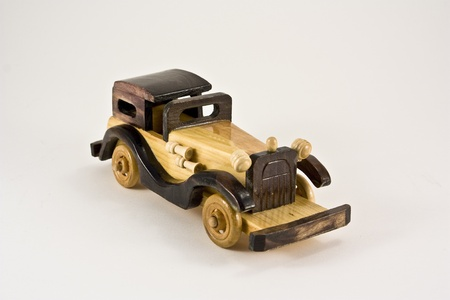 oldie: wooden old car