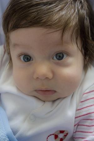 bashful: little shy baby boy