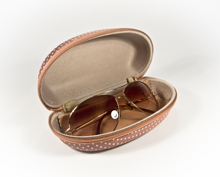 sunnies: brown sun glasses in its box