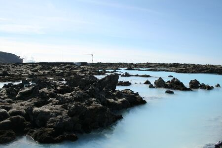 Geothermal waters of the Blue Lagoon, Iceland photo