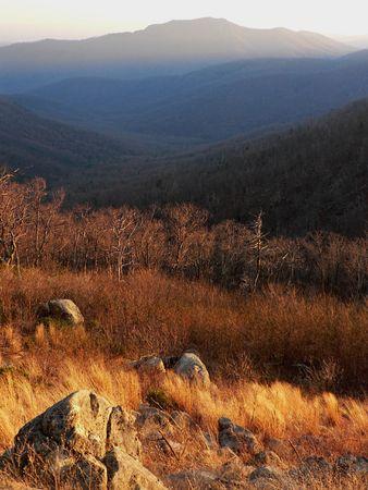 Sunset in Shenandoah National Park, USA photo