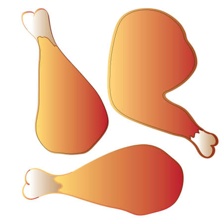 fried chicken: vector illustration fried chicken legs seamless pattern Illustration