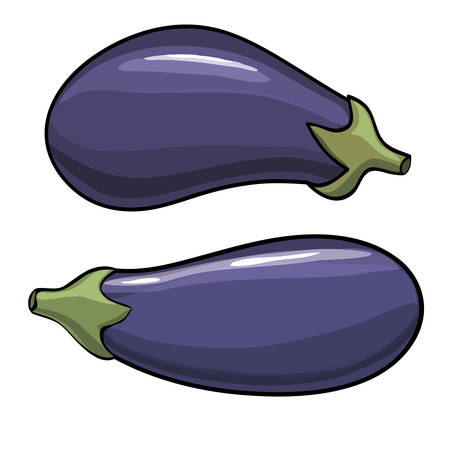 unpeeled: Eggplant Isolated with clipping path on a white background