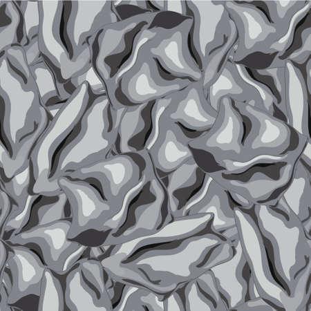 silk fabric: Modelo incons�til de la imitaci�n de los pliegues de la tela de seda Vectores
