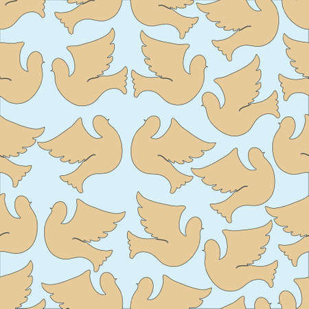 peace concept: Doves and pigeons seamless pattern for peace concept and wedding design. Vector Illustration