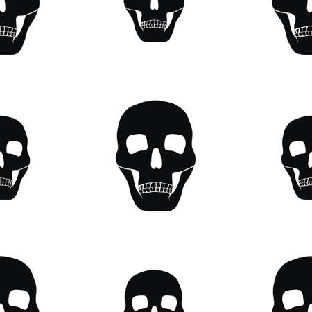 gothic background: seamless gothic background with skulls. vector illustration