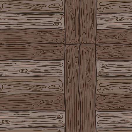 Houten gestreepte vezels geweven achtergrond. Vector illustratie