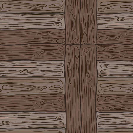 wood planks: Wooden striped fiber textured background. Vector illustration