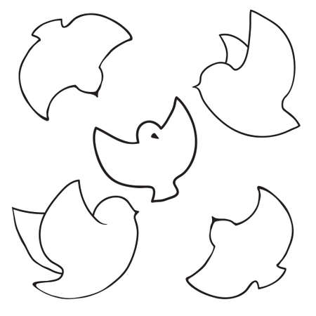 contour: Contour of a flying bird