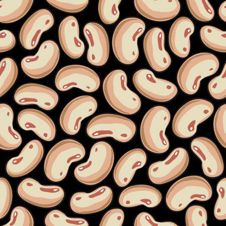 grained: Texture of haricot beans close-up. Seamless pattern.