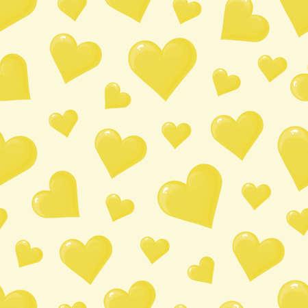 Nahtloses Muster mit bunten Herzen, Vektor illustratoin