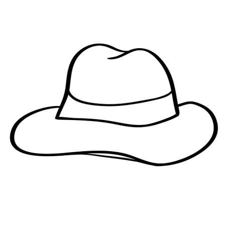 fedora: Vector fedora hat isolated on white, vector illustration