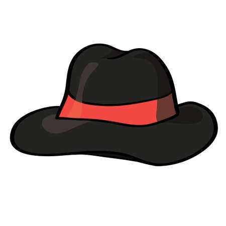 sir: Vector fedora hat isolated on white, vector illustration