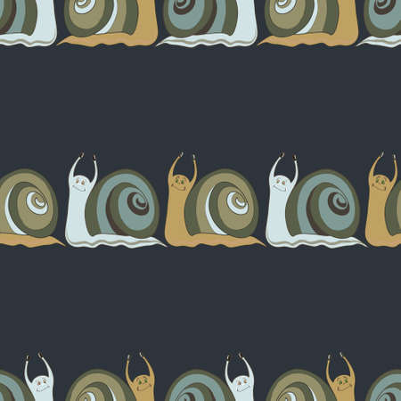 cochlea: Seamless background with cochlies.