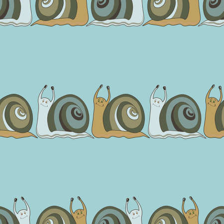 cochlea: Seamless background with cochlies