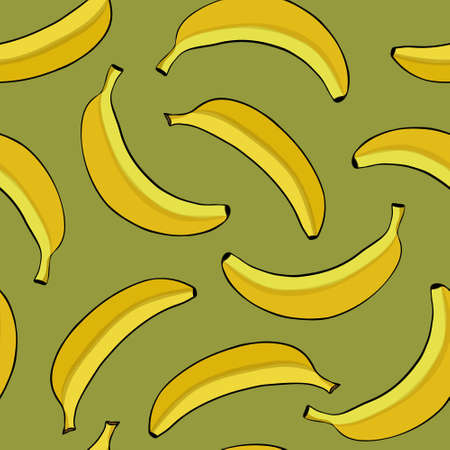 agriculture wallpaper: Seamless background with yellow bananas. Vector illustration. Illustration