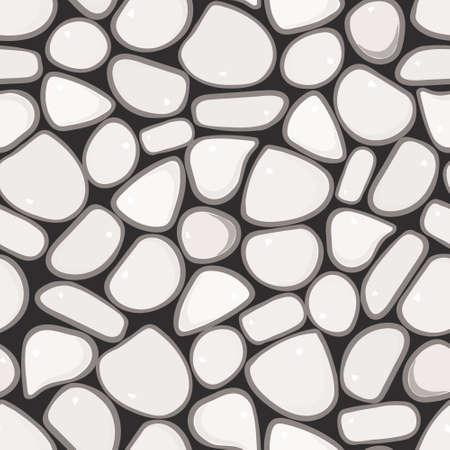 Seamless Pattern - ciottoli Pebble vettore modello colorato