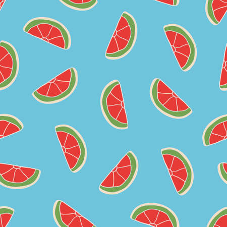 Vector seamless pattern with hand drawn lemon slices. Beautiful design elements, perfect for prints and patterns. Illustration
