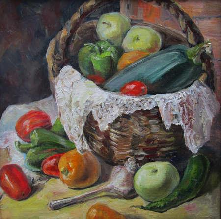 Country vegetables, oil painting 版權商用圖片