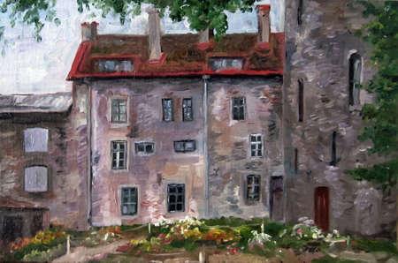 House in Tallinn. old town Paintings