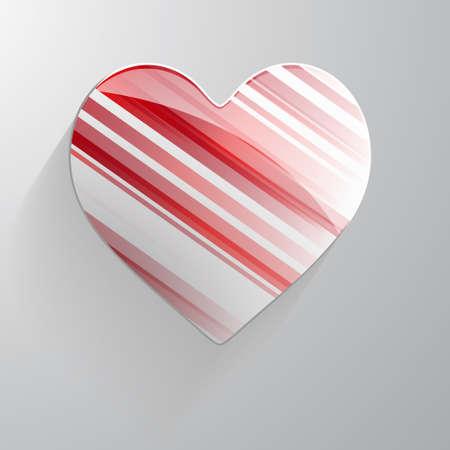 multicolored: 3D heart multicolored Stock Photo
