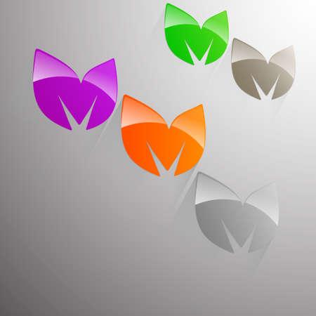 multicolored: 3D leaves multicolored
