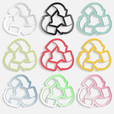 quality of life: paper arrows in a circle 3d icons or for printing