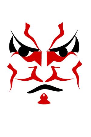 mascarilla: Kabuki Foto de archivo