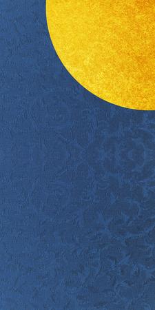Indigo blue with gold leaf
