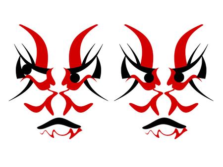 stage makeup: Kabuki stage six