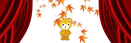 fall about: Banners bear fall Stock Photo