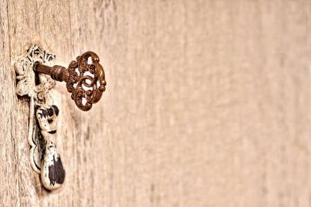 Key in keyhole photo