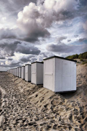 texel: Beach cabin Stock Photo