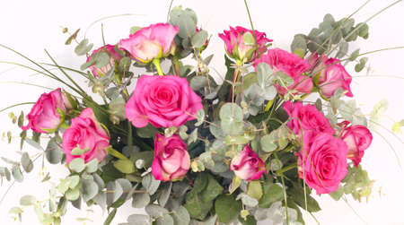 Pink roses bouquet Stock Photo - 18043841