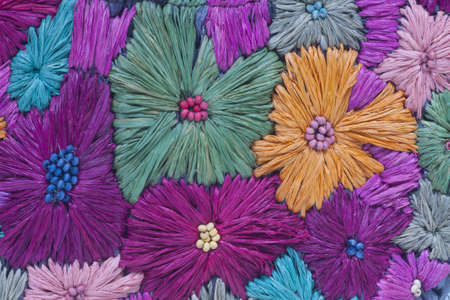 Flower fabric background photo
