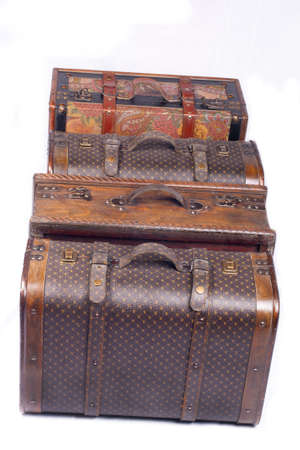 Oriental travel suitcases photo